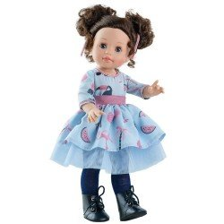 Paola Reina doll 45 cm - Soy tú - Emily with blue printed dress