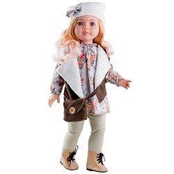 Paola Reina doll 60 cm - Las Reinas - Marta with brown waistcoat