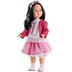Paola Reina doll 60 cm - Las Reinas - Mei with squared printed skirt