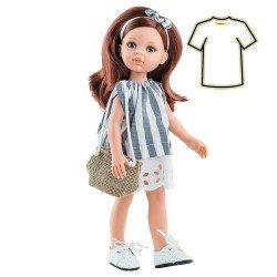 Paola Reina doll Outfit 32 cm - Las Amigas - Cristi stripped dress
