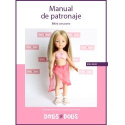 Dolls And Dolls downloadable pattern for Las Amigas dolls - Bikini with pareo