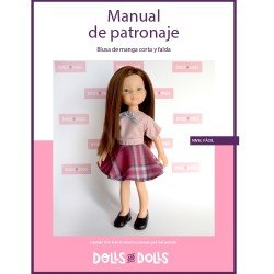 Dolls And Dolls downloadable pattern for Las Amigas dolls - Short sleeve blouse with skirt
