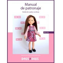 Dolls And Dolls downloadable pattern for Las Amigas dolls - Square dress with shirt