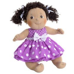 Rubens Barn doll 36 cm - Rubens Kids - Clara with purple dress