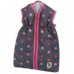 Saco de dormir para muñecas de hasta 55 cm - Bayer Chic 2000 - Estrellas marino y fucsia