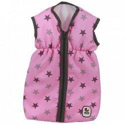 Saco de dormir para muñecas de hasta 55 cm - Bayer Chic 2000 - Estrellas negro y rosa