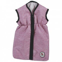 Saco de dormir para muñecas de hasta 55 cm - Bayer Chic 2000 - Vaquero Rosa