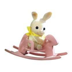 Sylvanian Families - Baby to bring - Rabbit with rocking horse