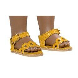Vestida de Azul doll accessories 33 cm - Paulina - Mostard yellow sandals