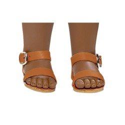 Vestida de Azul doll accessories 33 cm - Paulina - Brown sandals