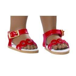 Vestida de Azul doll accessories 33 cm - Paulina - Red sandals