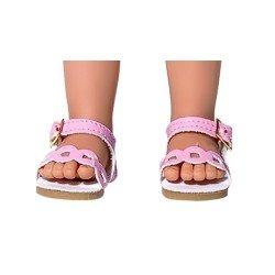 Vestida de Azul doll accessories 33 cm - Paulina - Pink sandals