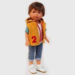Vestida de Azul doll 28 cm - Los Amigos de Carlota - Albert with jeans and mustard vest