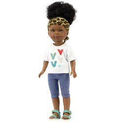 Vestida de Azul doll 28 cm - Los Amigos de Carlota - Brandy with pirate jeans, v-neck t-shirt and turban