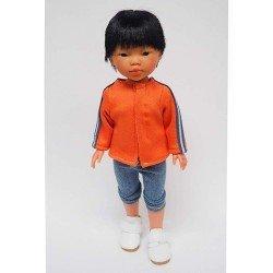 Vestida de Azul doll 28 cm - Los Amigos de Carlota - Kenzo with jeans and orange jacket