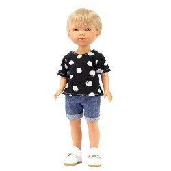 Vestida de Azul doll 28 cm - Los Amigos de Carlota - Nylo with jeans and black t-shirt with white print