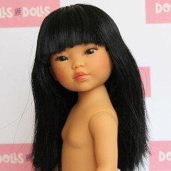 Vestida de Azul doll 28 cm - Los Amigos de Carlota - Umi straight black hair and fringe without clothes