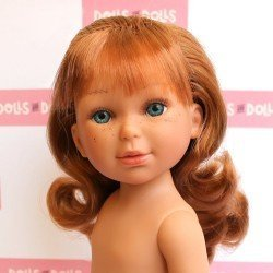 Vestida de Azul doll 33 cm - Paulina red-haired with fringe without clothes