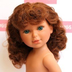 Vestida de Azul doll 33 cm - Paulina red-haired with curly hair without clothes