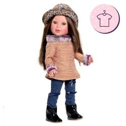Outfit for Vestida de Azul doll 33 cm - Paulina - Outfit with printed hat