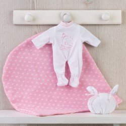 Así doll Outfit 28 cm - Sleeping moon pajamas in pink for Gordi doll