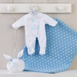 Así doll Outfit 28 cm - Sleeping moon pajamas in blue for Gordi doll