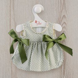 Así doll Outfit 36 cm - Green floral dress with bows for Guille doll