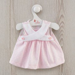 Así doll Outfit 36 cm - Pink pique dress with crossed front for Guille doll