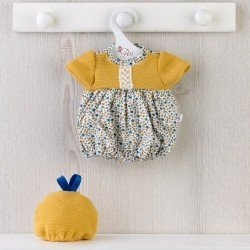 Así doll Outfit 36 cm - Blue and mustard flower romper for Guille doll