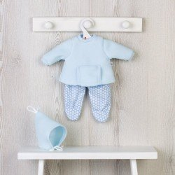 Así doll Outfit 36 cm - Light-blue sweatshirt set with pocket for Koke doll
