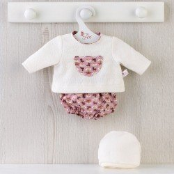 Así doll Outfit 36 cm - Dragonfly bloomers and beige sweater set for Koke doll