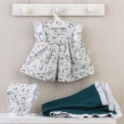 Así doll Outfit 43 cm - Birds romper with blue blanket for María doll