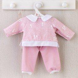 Así doll Outfit 43 cm - Pink bunny tracksuit for María doll
