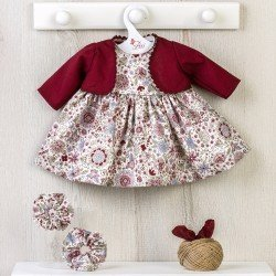 Así doll Outfit 46 cm - Maroon flower printed dress with jacket for Noor