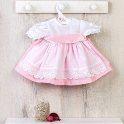 Así doll Outfit 46 cm - Pink dress with white smock for Noor