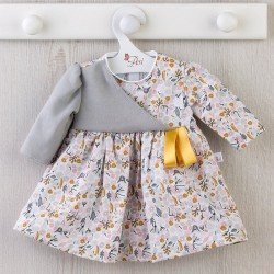 Así doll Outfit 46 cm - Gray and pink flower dress for Noor doll
