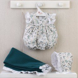 Así doll Outfit 43 cm - Birds romper with blue blanket for Pablo doll