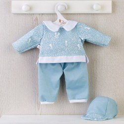 Así doll Outfit 43 cm - Blue bunny tracksuit for Pablo doll