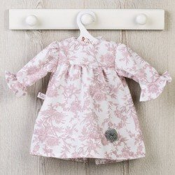 Así doll Outfit 57 cm - Pink floral pique dress for Pepa doll