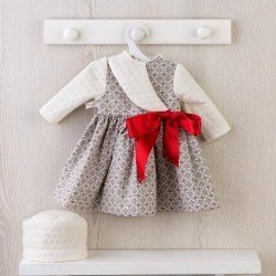 Así doll Outfit 57 cm - Geometric shapes dress with red bow for Pepa doll
