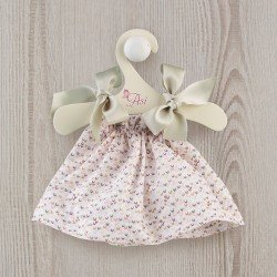 Así doll Outfit 36 cm - Printed dress with green bows for Sammy doll