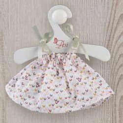 Así doll Outfit 20 cm - Printed dress with green bows for Tom doll