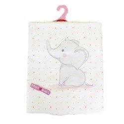 Antonio Juan doll Complements 40 - 52 cm - Little elephant blanket