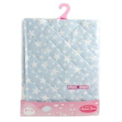 Antonio Juan doll complements 40 - 52 cm - Blue padding blanket with stars printed