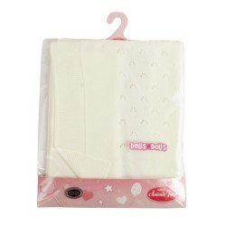 Antonio Juan doll Complements 40 - 52 cm - Stitched cream blanket