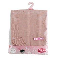 Antonio Juan doll Complements 40 - 52 cm - Stitched tile pink blanket