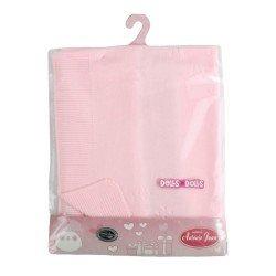 Antonio Juan doll Complements 40 - 52 cm - Stitched pink blanket