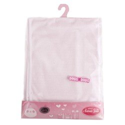 Antonio Juan doll Complements 40 - 52 cm - Pink printed blanket