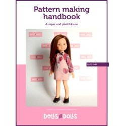 Dolls And Dolls downloadable pattern for Las Amigas dolls - Jumper with plaid blouse