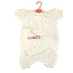 Tenue de poupée Antonio Juan 52 cm - Collection Mi Primer Reborn - Pyjama tricoté crème avec bonnet